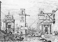 The Arsenal: the Water Entrance, canaletto
