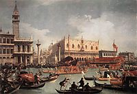 The Bucintore Returning to the Molo on Ascension Day, c.1740, canaletto
