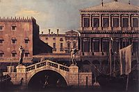 Capriccio: The Ponte della Pescaria and Buildings on the Quay, c.1743, canaletto