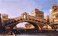 Capriccio of the Rialto Bridge with the Lagoon Beyond, 1746, canaletto