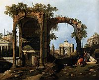 Capriccio with Classical Ruins and Buildings, c.1751, canaletto