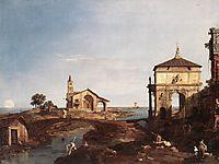 Capriccio with Venetian Motifs, c.1742, canaletto