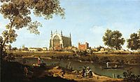 The Chapel of Eton College, 1747, canaletto