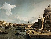 Entrance to the Grand Canal and the Church of La Salute, c.1735, canaletto