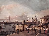 Entrance to the Grand Canal: from the West End of the Molo, c.1737, canaletto