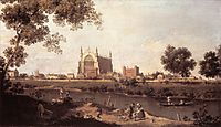 Eton College Chapel, c.1754, canaletto