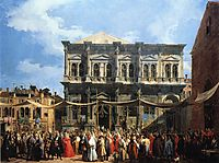 Feast of San Rocco (The Doge Visiting the Church and Scuola di S. Rocco), c.1735, canaletto