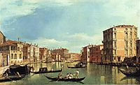 Grand Canal Between the Palazzo Bembo and the Palazzo Vendramin, canaletto