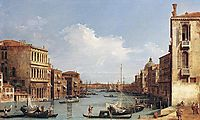 The Grand Canal from Campo San Vio towards the Bacino, c.1730, canaletto