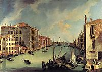 The Grand Canal from the Campo San Vio, Venice, canaletto