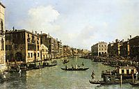 Grand Canal From the Campo Santa Sofia Towards the Rialto Bridge, canaletto