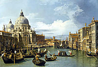 The Grand Canal and the Church of the Salute, 1730, canaletto