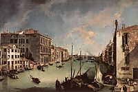Grand Canal, Looking East from the Campo San Vio, 1723, canaletto