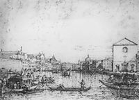 Grand Canal: Looking North East from Santa Croce to San Geremia, c.1732, canaletto