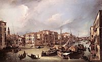 Grand Canal: Looking North East toward the Rialto Bridge, c.1725, canaletto