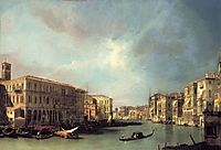 Grand Canal Looking North from near the Rialto Bridge, c.1732, canaletto