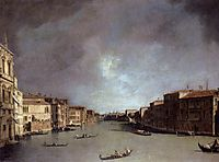 Grand Canal: Looking from Palazzo Balbi, c.1726, canaletto