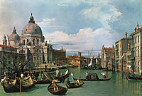 The Grand Canal at the Salute Church, c.1740, canaletto