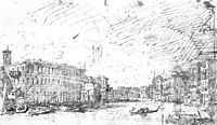 The Grand Canal Seen from Rialto toward the North, 1725, canaletto