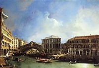 Grand Canel the Rialto Bridge from the North, canaletto
