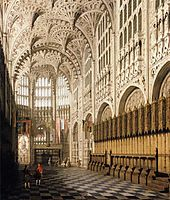 The Interior of Henry VII Chapel in Westminster Abbey, canaletto