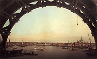 London seen through an arch of Westminster Bridge, 1747, canaletto