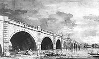 London: Westminster Bridge under Repair, 1749, canaletto
