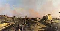 London Whitehall and the Privy Garden looking North, canaletto