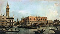 The Molo and the Piazzetta San Marco, Venice, canaletto