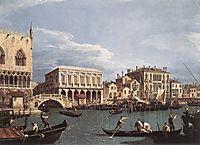 The Molo and the Riva degli Schiavoni from the St. Mark-s Basin, 1740, canaletto