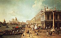 Molo with the Library (Molo Looking Towards the Zecca), canaletto