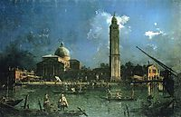 Night time Celebration Outside the Church of San Pietro di Castello, canaletto