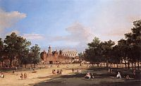 Old Horse Guards and the Banqueting Hall, Whitehall from St. James-s Park, 1749, canaletto