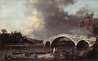 Old Walton Bridge over the Thames, 1754, canaletto