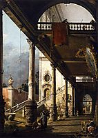 Perspective View with Portico, canaletto