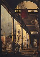 Perspective with a Portico, canaletto