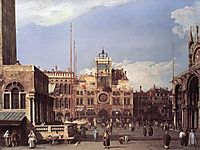 Piazza San Marco, the Clocktower, 1730, canaletto