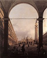 Piazza San Marco: Looking East from the North West Corner, c.1760, canaletto