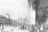 Piazza San Marco: Looking East from the South West Corner, c.1760, canaletto