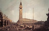 Piazza San Marco: Looking South West, c.1757, canaletto