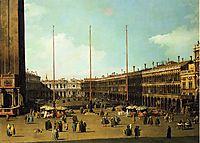 Piazza San Marco, Looking Towards San Geminiano, c.1737, canaletto