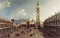 Piazza San Marco with the Basilica, 1730, canaletto