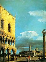 The Piazzet Looking South, 1727, canaletto