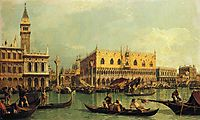 Piazzetand the Doge s Palace from the Bacino di San Marco, c.1737, canaletto