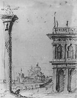 The Piazzetta Looking towards S. Maria della Salute, c.1727, canaletto