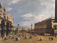 The Piazzetta, c.1734, canaletto