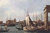The Punta della Dogana, 1730, canaletto