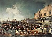 Reception of the Ambassador in the Doge-s Palace, 1730, canaletto