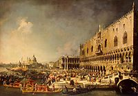 The Reception of the French Ambassador in Venice, c.1745, canaletto