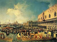 Reception of the Imperial Ambassador at the Doge-s Palace, 1729, canaletto